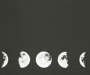 moon, black and white, and header image