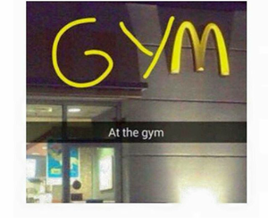 funny, gym, and snapchat image