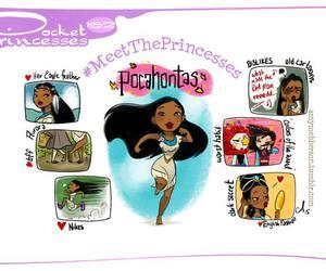 pocahontas, disney, and pocket princesses image