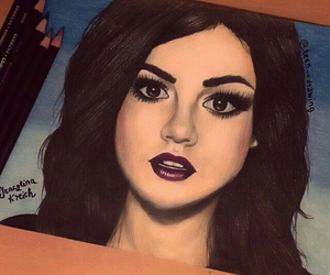 aria, lucy hale, and pretty little liars image