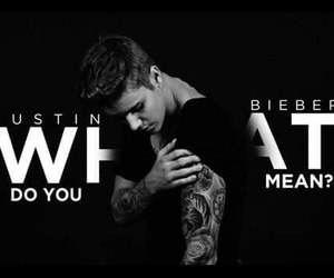justin, justin bieber, and what do you mean image