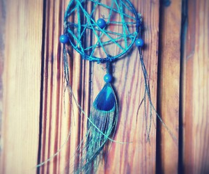 blue, handmade, and dream catcher image