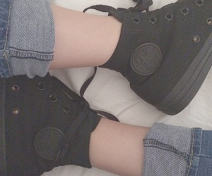 converse and blacknblack image