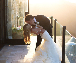 couple, kiss, and dress image
