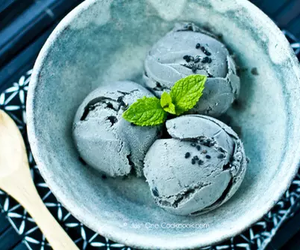 ice cream, blue, and dessert image