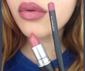 mac, lips, and lipstick image