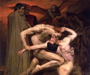 William Adolphe Bouguereau and dante and virgil in hell image