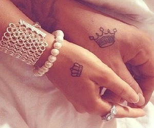 love, tattoo, and king image