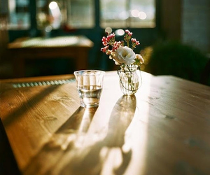 flowers, vintage, and glass image
