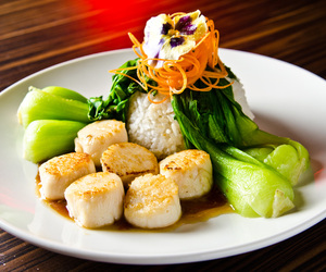 bok choy, food, and rice image
