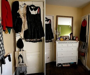 bedroom, closet, and vanity image