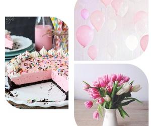 baloons, birthday cake, and cake image