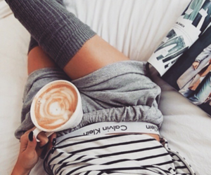 coffee, Calvin Klein, and morning image
