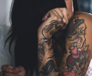 girl, tattoo, and ink image