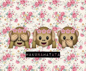 monkey, flowers, and hakunamatata image