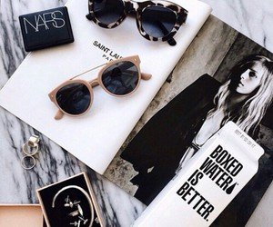 fashion, sunglasses, and magazine image