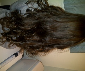 brown, curly, and hair image