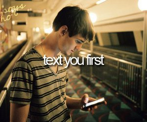 boy, love, and text image