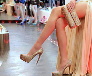 high heels, sparkle, and party image