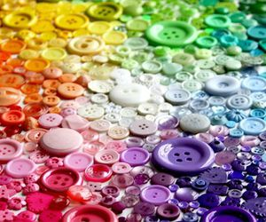 buttons, colorful, and rainbow image