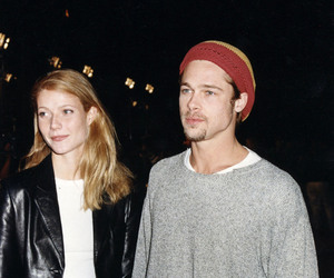 brad pitt, couple, and 90s image