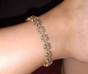 bracelet, flowers, and foot image