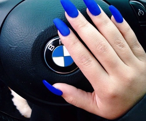 nails, blue, and bmw image
