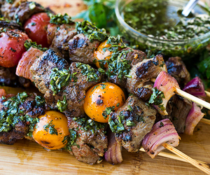 food, grilled, and steak image