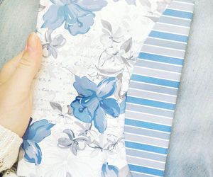 blue, diary, and diy image