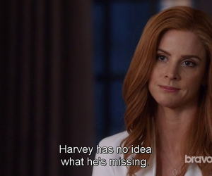 suits, harvey specter, and donna paulson image