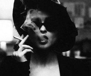 smoke, cigarette, and smoking image