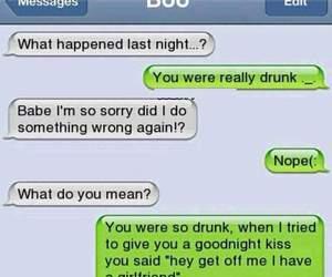 boyfriend, drunk, and girlfriend image