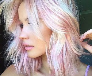 hair, pink hair, and hairstyle image