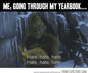 funny, yearbook, and hate image