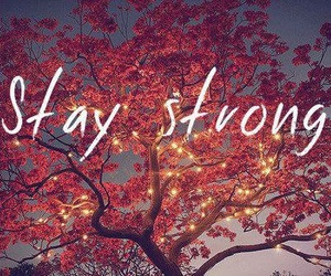 strong, stay strong, and tree image