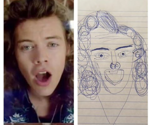 drawing, funny, and Harry Styles image
