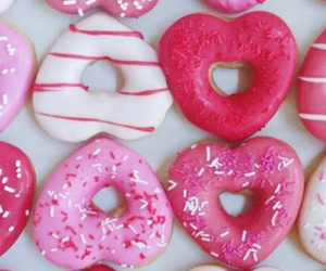 pink, donuts, and heart image