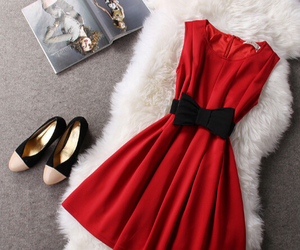 red, dress, and clothes image