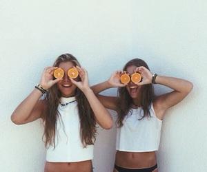 girl, orange, and summer image