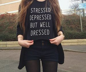black, grunge, and outfit image