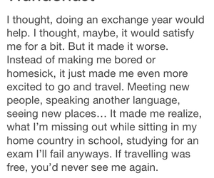 exchange, school, and travel image