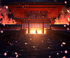 anime, japan, and Temple image