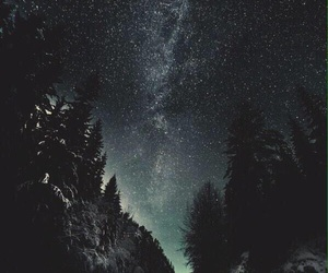 stars, night, and sky image