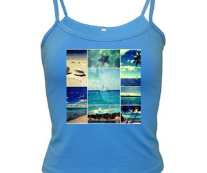 Caribbean, photo collage, and blue top image