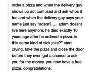 funny, pizza, and tumblr image