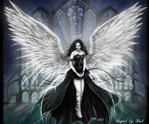 angel, gothic, and black image