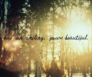 beautiful, smile, and quote image