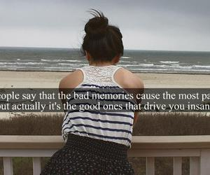 memories, quote, and insane image