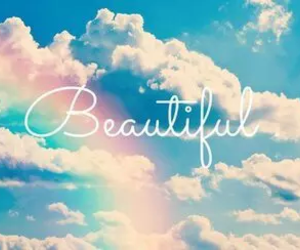 beautiful, sky, and rainbow image