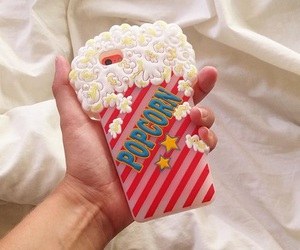 case, iphone, and popcorn image